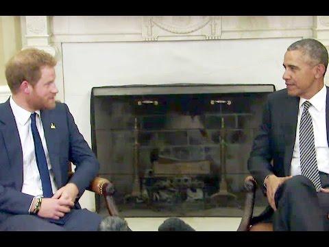 Prince Harry & Former President Barack Obama Reunite At Kensington Palace Meeting