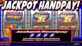 ★ JACKPOT HANDPAY!! ★ $1 TRIPLE RED HOT 777 SLOT MACHINE JACKPOT