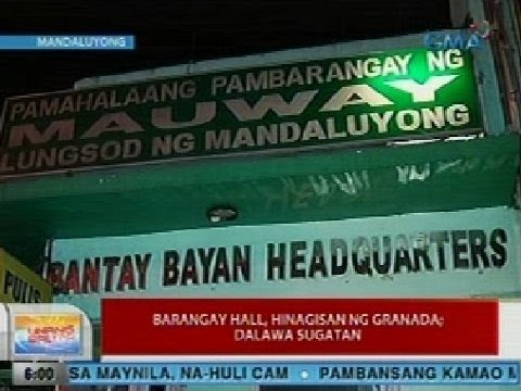 UB: Barangay hall sa Mandaluyong City, hinagisan ng granada; 2, sugatan