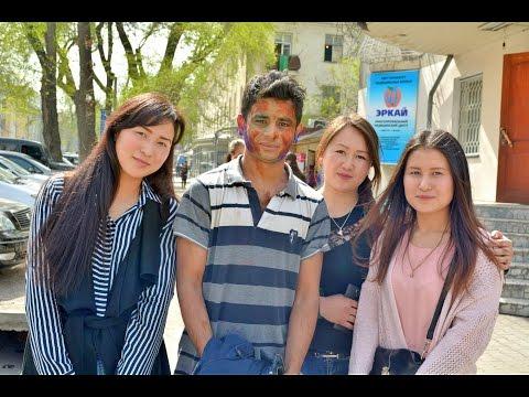 Holi celebration in Bishkek