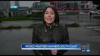 Rain and wind hammer B.C.'s South Coast
