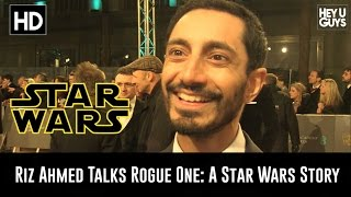 Riz Ahmed (Star Wars Rogue One) Interview - BAFTA Awards 2016