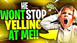 HE WONT STOP YELLING AT ME! Community Games #6 (Fortnite Battle Royale)
