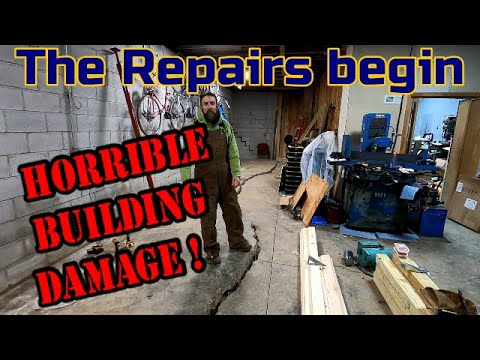 Repairs To The Shop Begin ! Preparing The Roof Lift Wall