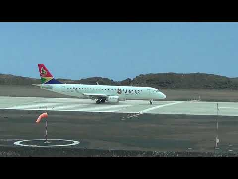 Airlink Embraer E190 at St Helena Airport - 20 Jan 2018