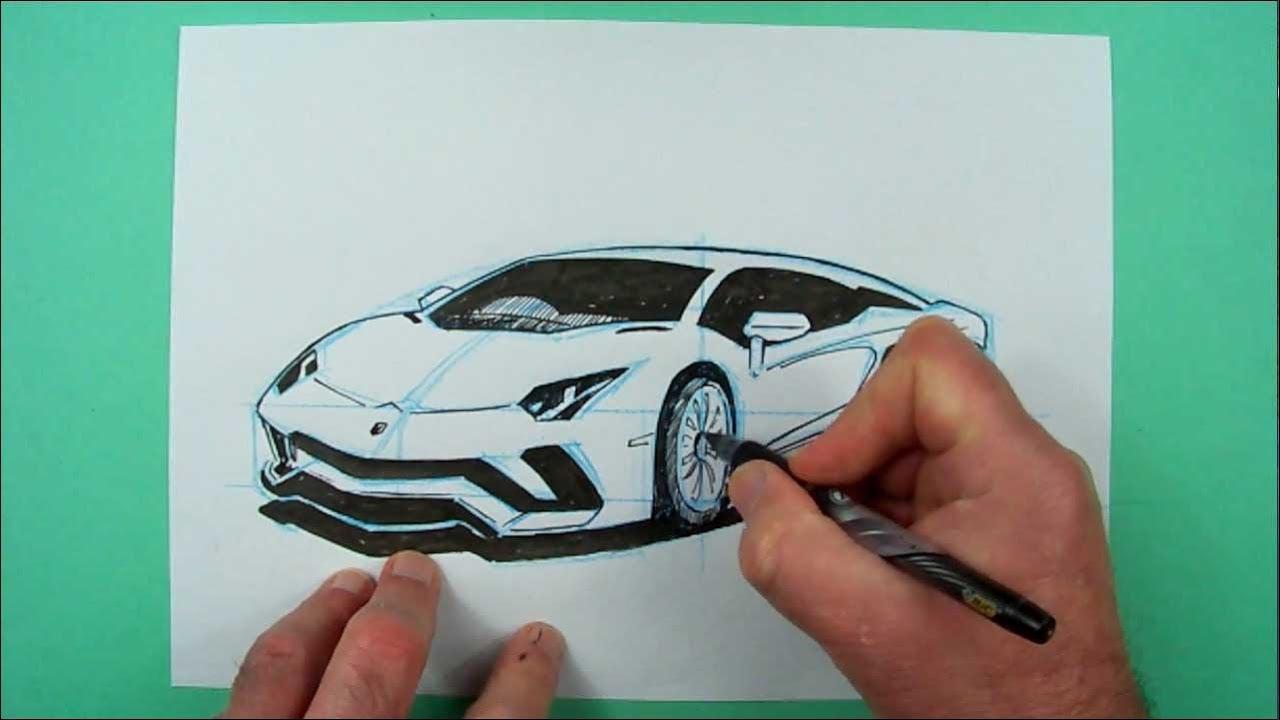 Wie zeichnet man einen Lamborghini Aventador S.