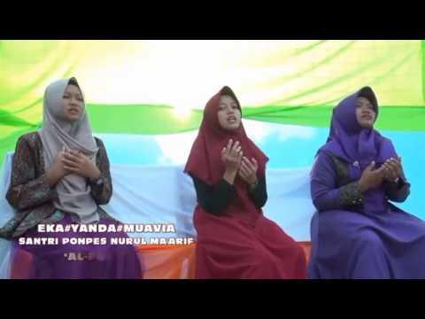 3 santri putri cover lagu GUZ AZMI-ALFATIHAH UNTUK MU