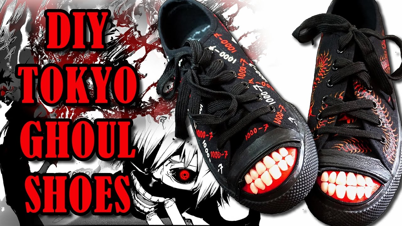 ef81a9ccfbc DIY Tokyo Ghoul Shoes! - YouTube