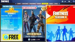 BATTLE PASS 4 FREE IN FORTNITE! HAVE THE BATTLE PASS 4 FOR FREE! FREE V-BUCKS FORTNITE