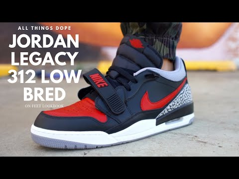 Air Jordan Legacy 312 Low Bred On Feet Lookbook