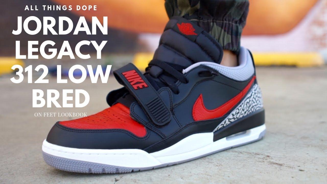 air jordan legacy 312 low on feet