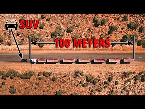 2017 Land Rover Discovery Towing  110 Tonne 100 m Long Road Train to More Than 16 Km