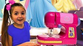 Masha Play with Toy Sewing machine