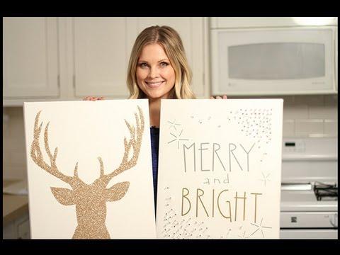 Amazing Christmas Canvas Art Youtube