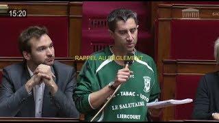 SPORT : François Ruffin enlève son pull et scandalise l'Assemblée ! De Rugy rappelle les règles...