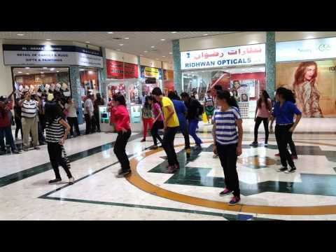 flash mob at AL Qurum complex Muscat Oman Oct 2015