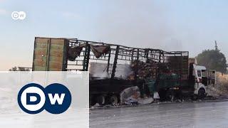 Bellingcat: гумколонну в Сирии атаковали российской бомбой