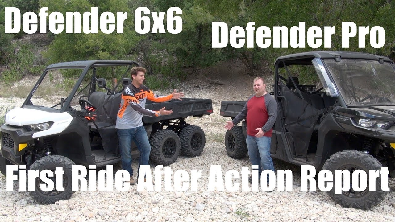 Can Am Defender Pro & Defender 6x6 First Ride After Action Report