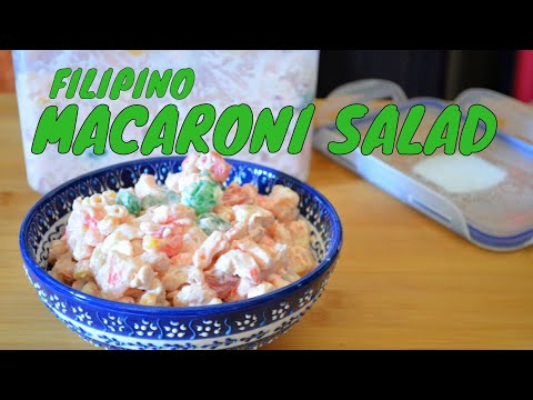 HOW TO MAKE FILIPINO MACARONI SALAD WITH EVAPORATED MILK (RECIPE #32)
