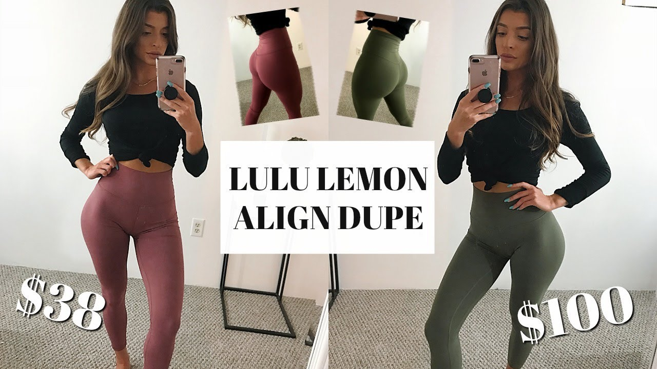 59a540ede136a THE BEST LULU LEMON ALIGN DUPE... ONLY $38! - YouTube