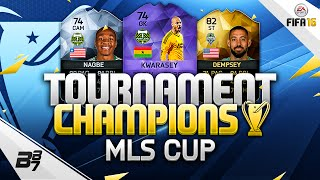 MLS PLAY OFFS TOURNAMENT CHAMPIONS SQUAD BUILDER! w/ HERO KWARASEY! | FIFA 16