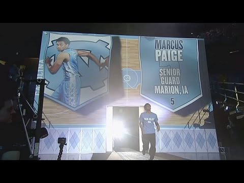 UNC Men's Basketball: Team Introductions at 2015 LNWR