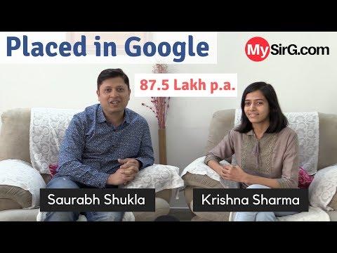 How I got placed in Google? | MySirG Student- Krishna