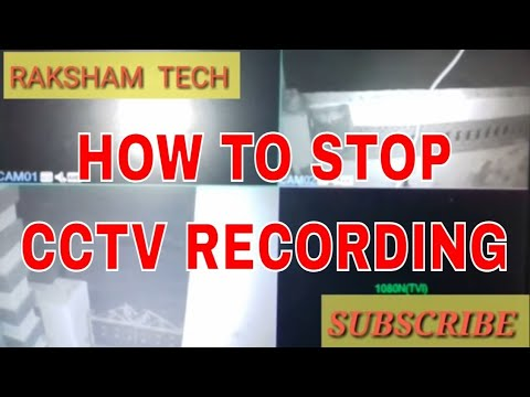 HOW TO STOP CCTV RECORDING || DVR RECORDING SETTING