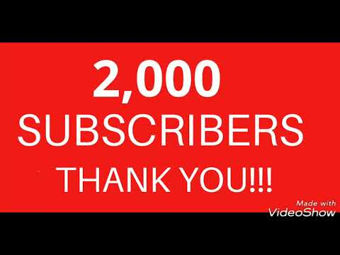 Bucos Locker hit the 2,000 subs mark...THANK YOU!!