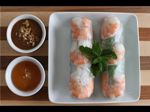 How to make fresh spring rolls