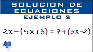 Solucionar ecuaciones lineales   Ejemplo 3