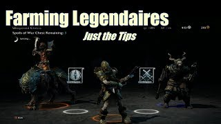 [Shadow of War] Easy Legendary And Spoils Of War Farming | Just The Tips