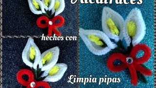 Repeat youtube video ALCATRACES HECHOS CON LIMPIA PIPAS.  PIPE CLEANER CALLA LILIES .