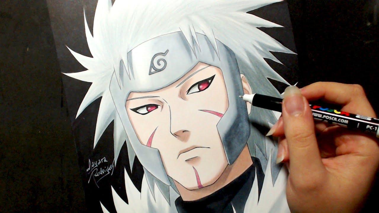 Speed Drawing Tobirama Senju Naruto Mayara Rodrigues