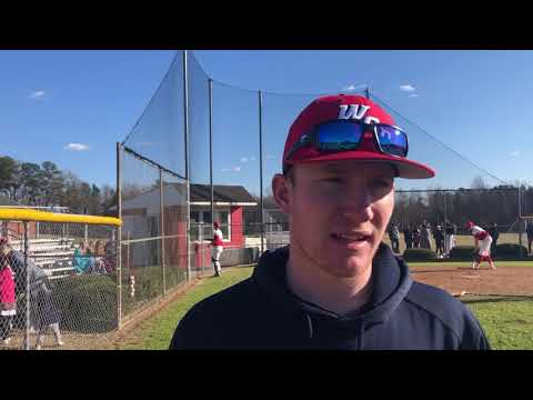 Wayne Country Day School Adam Pate interview after winning against Rosewood