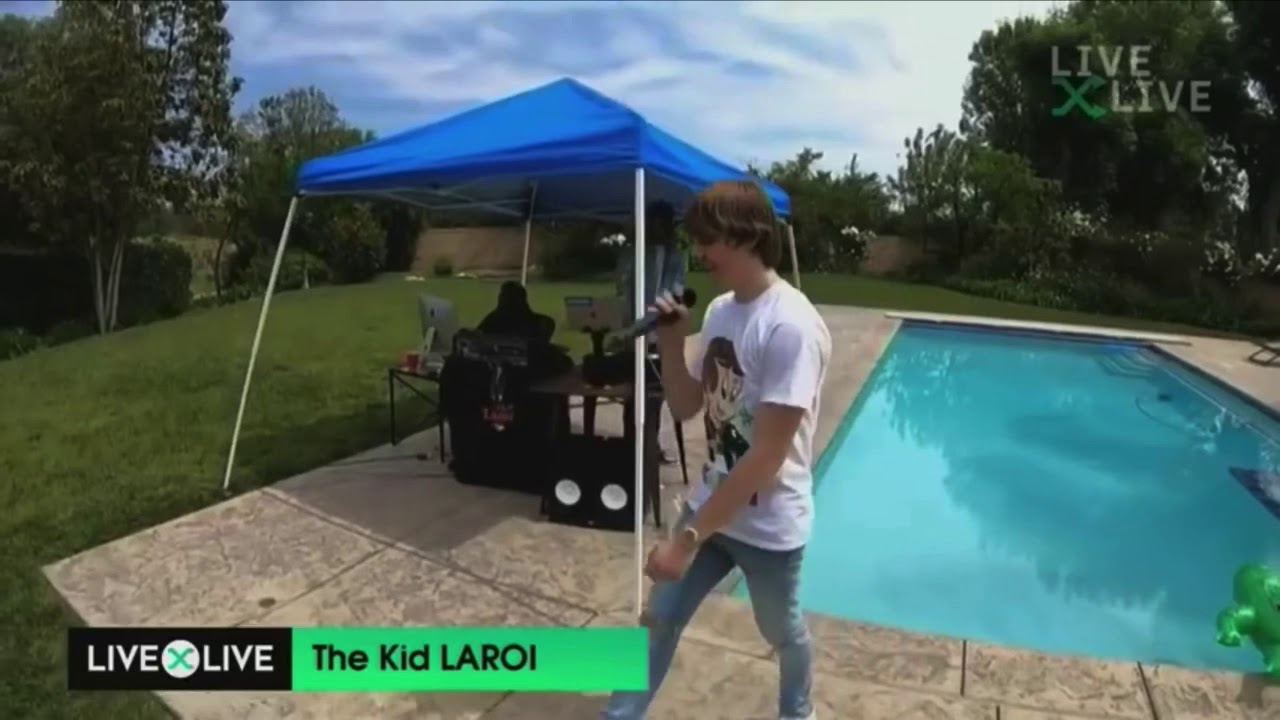 """Download The Kid LAROI performs """"Let Her Go"""" and """"Diva"""" in his BACKYARD!"""