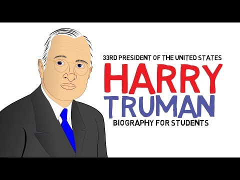 Sharing videos on history for children watch a biography about Harry Truman (Educational Cartoon)