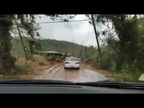 Adjuntas, Puerto Rico tras el paso del Huracán María- Tramo de Capaez