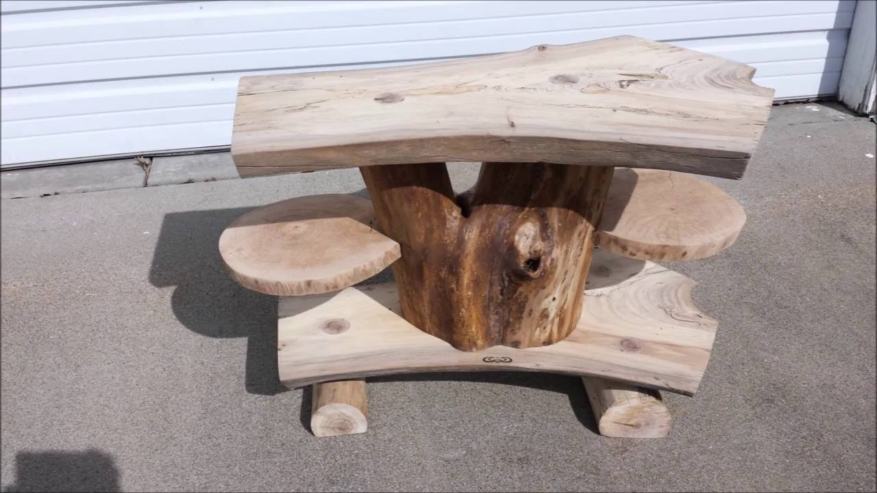 Log TV Stand ( Using DONSIWOOD Chainsaw Mill)