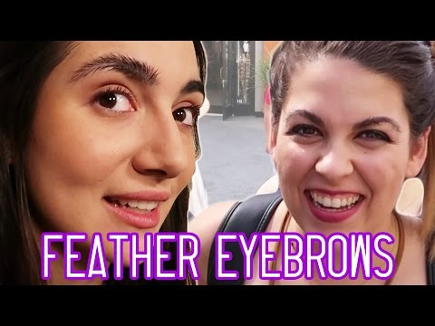 We Tried Instagram Feather Eyebrows • Saf & Candace