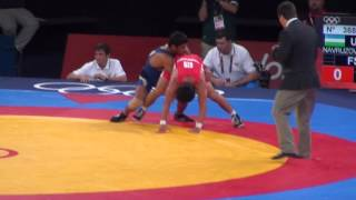 Sushil Kumar Wins Olympics Quarter Final In 66kg freestyle wrestling‎