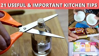 21 Amazing and Useful Kitchen Tips & Tricks in Hindi | ज़रूर देखें ये 21 उपयोगी किचन टिप्स