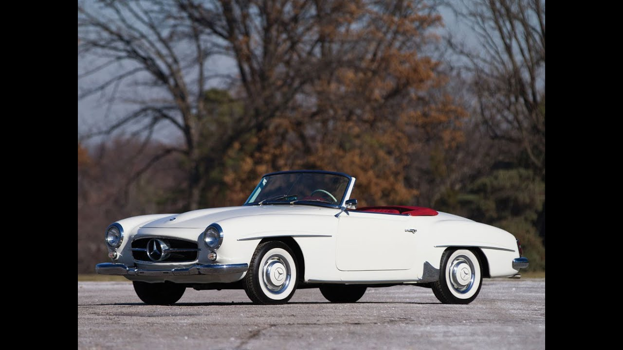 1961 mercedes benz 190 sl roadster youtube. Black Bedroom Furniture Sets. Home Design Ideas