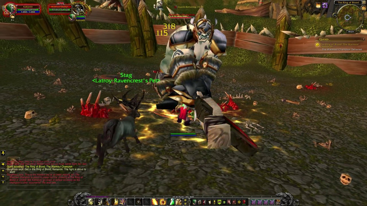 WoW quest #3620 The Ring of Blood: The Warmaul Champion
