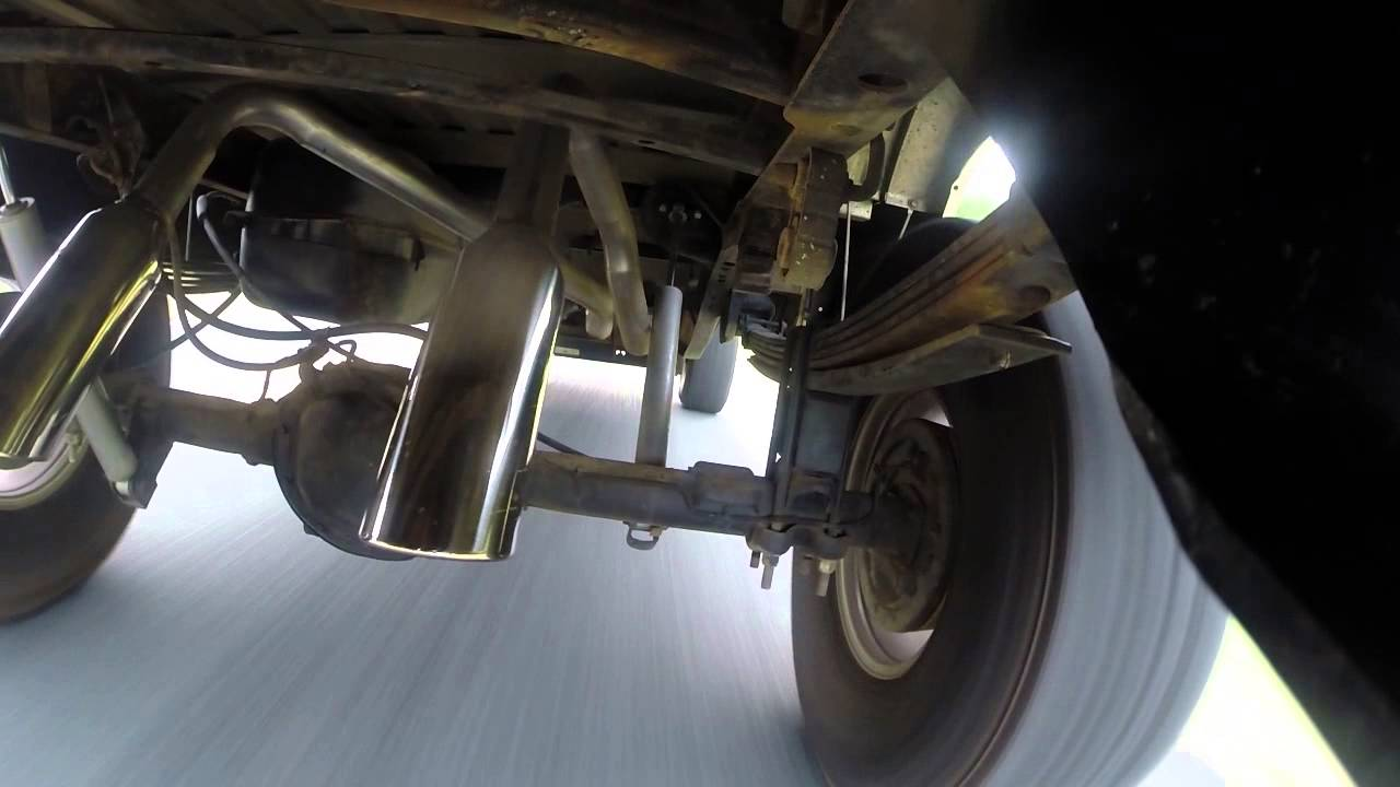 Axle Dump Exhaust >> Flowmaster 10 series dumped exhaust GoPro - YouTube