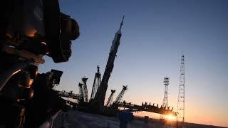 金井宇宙飛行士搭乗 ソユーズMS-07のジャッキアップ