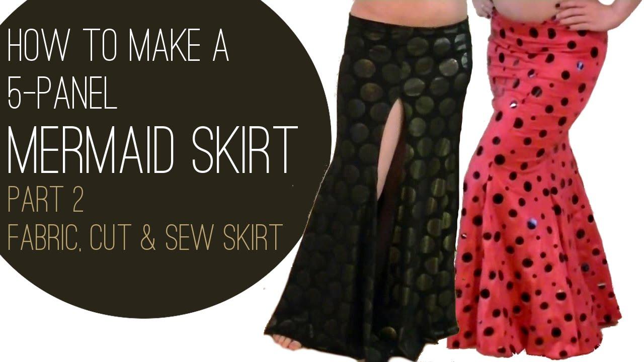How to make a mermaid skirt part 2 fabric cut sew skirt youtube jeuxipadfo Gallery