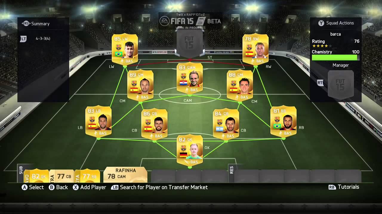 Fifa Ultimate Team Squad Builder