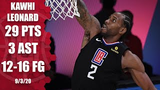 Check out highlights of kawhi leonard's game 1 performance against the denver nuggets, as he goes 12-for-16 from field and finishes with 29 points in 32 ...