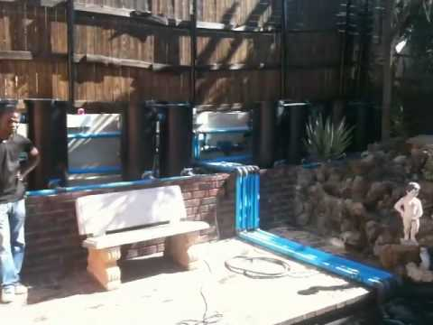 A swimming pool to koi pond conversion part 2 youtube for Pool to koi pond conversion